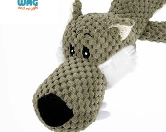 Wildlife Elephant Plush Dog Chew Toy