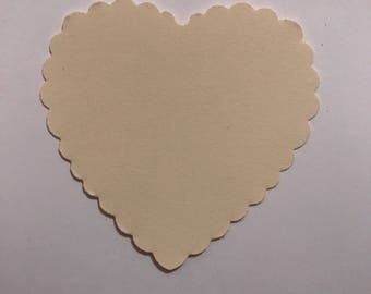Heart shaped gift tags.