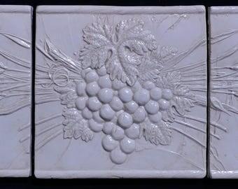 """Harvest Grapes 6""""x18"""" Tile Mural"""