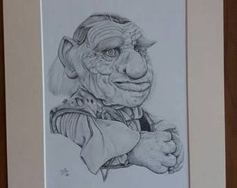 Hoggle 16x12 Hand Signed Limited print