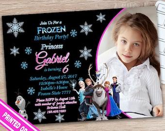 ON SALE 30%Frozen Birthday Invitation - Frozen Invite - Frozen Birthday Invite