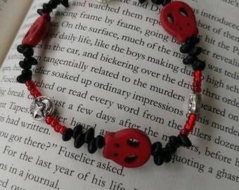Red Skull beaded bracelet