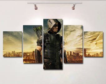 Arrow canvas poster wall art print painting wall hanging home decor High Quality 5 piece set Birthday Gift housewarming giclee