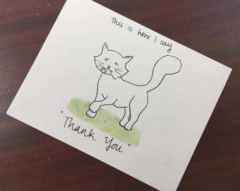 Thank You Cat Notecards (Pack of 5)