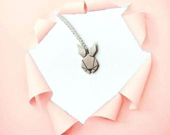 Rabbit Necklace | Rabbit Pendant | Animal Necklace | Silver Rabbit | Tiny Rabbit Pendant | 925 Sterling Silver | Gift for Her l Cute Rabbit