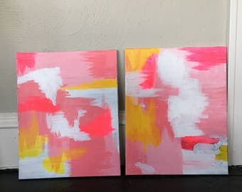 Set of abstract paintings