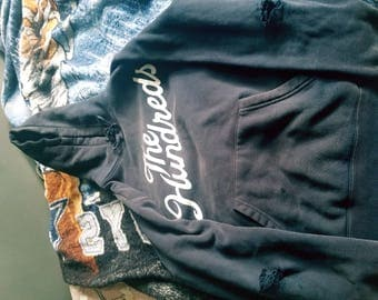 Authentic Hundreds Hoodie Distressed(on elbows)