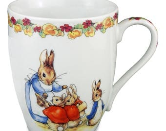 Reutter Porcelain Beatrix Potter Mug with Bell Flower Band (56.071/0)