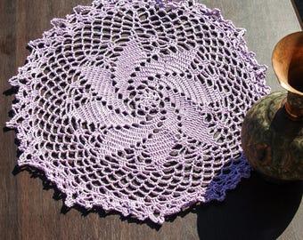 Beautiful, Handmade, PurpleLace Crochet Doily, Chic, Trendy, Stylish Home Decor, Star Design