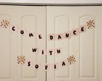 Ballerina  Birthday Party Tutu Banner, Pink Ballerina Birthday Banner, Special Ocassion, Girl Dance Birthday ideas