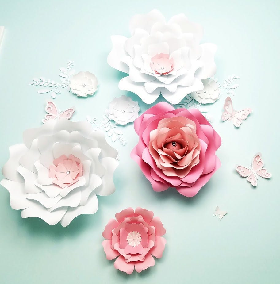 Paper flowers wall decor large paper flowers wall decor nursery paper flowers wall decor large paper flowers wall decor nursery flowers wall wedding amipublicfo Images