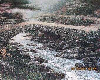 "Afghan Thomas Kinkade ""Bridge of Faith"""