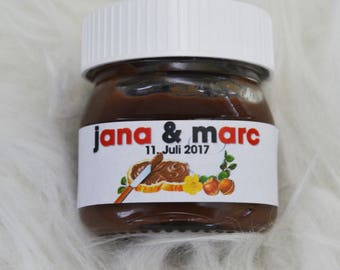 20 x Nutella labels for 25 g gift name