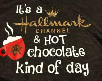 It's a Hallmark channel and hot chocolate kind of day - black/grey raglan