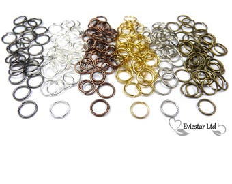 Metal Open Jump Rings 10mm Diameter Thick 0.7mm, Jewellery Findings, Close but Unsoldered, Multi Colors Available, AKB