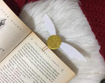 Harry Potter inspired Golden Snitch Bookmark