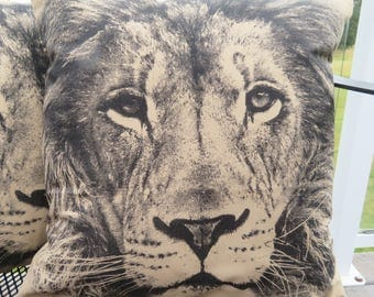 Custom Printed Pillow - Lion