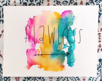 Custom Watercolor Prints and Calligraphy
