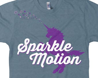 Sparkle Motion Tee T-shirt, Never Question My Commitment, Ultrasoft Cotton, Unisex Adult Sizes