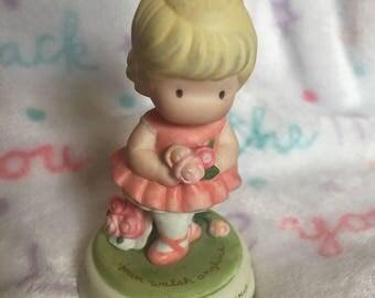 Magic Slippers- vintage porcelain little girl