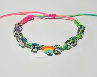 Don't F@#k It Up / RuPaul's Drag Race / Handmade / Macrame / Neon  / Adjustable / Bracelet