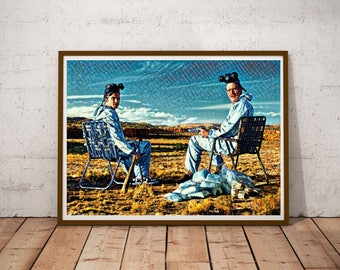 Breaking Bad Print INSTANT DOWNLOAD Walter White and Jesse Digital Print Wall Art Poster Digital Format ONLY