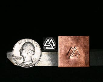 Small Valknut Metal Hand Stamp