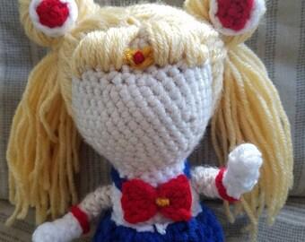 Sailor Moon Inspired Amigurumi- Sailor Moon (Usagi Tsukino)- MADE TO ORDER