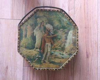 Hiawatha Wedding journey Handelded Tin Box