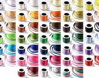 2MM Rattail Satin Cord Shamballa Macrame Nylon Kumihimo Trim Artisan String 10yards Mini Spool - Pick Your Color!