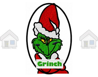 "Green Goblin Christmas One Fully Embroidery Design 4 sizes ""Instant download"""