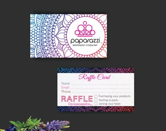 Paparazzi Accessories, Paparazzi Accessories Raffle Tickets, Printable Digital Printed Personalized, Customized Consultant Cards, PP91