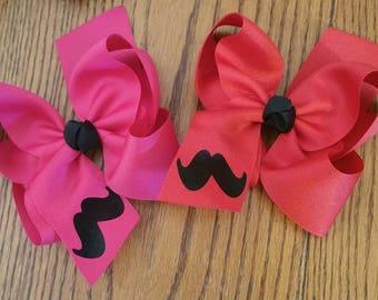Boutique Mustache Hair Bow