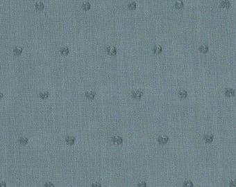 SATIN POLKA DOT GRAY BLUE LINNA MORATA 12147