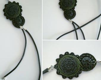 Handmade exclusive neck jewelry.