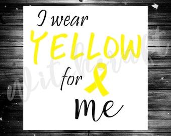 I Wear Yellow For...      Vinyl Decal      Endometriosis Awareness