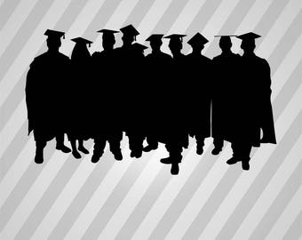 Graduation Silhouette Graduation - Svg Dxf Eps Silhouette Rld RDWorks Pdf Png AI Files Digital Cut Vector File Svg File Cricut Laser Cut
