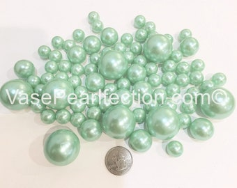 All Mint Blue Pearl Vase Fillers in Jumbo and Assorted Sizes for Centerpieces and Tablescapes
