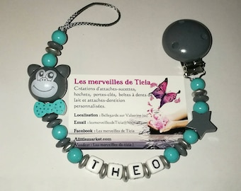 "Personalized pacifier ""monkey"""