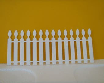 White fence for scrapbooking or card cutting