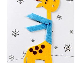 Christmas card / new year's Eve giraffe