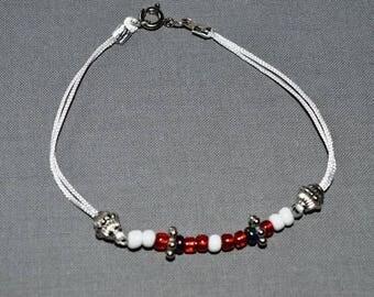 Lovely summery bracelet fancy beads