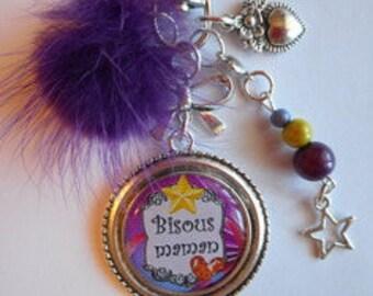 "Bag charm, door keys/MOM / ""love MOM"" / gift/mothers day / thanks/Christmas/birthday"