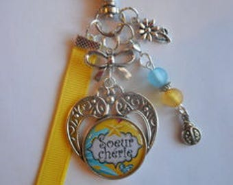 """Bag charm, door keys/sister / """"Sister"""" / gift/thank you/party /anniversaire"""