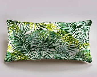 Cushion cover 60x30cm palmsprings, Palm trees, green, Thévenon