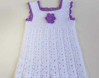 white cotton dress, baby girl or Reborn doll and other dolls clothes