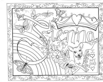 Personalized Coloring Sheets