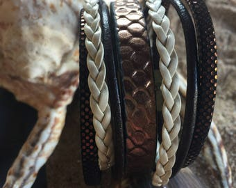 magnetic bracelet brown leather declianaison
