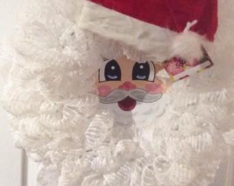 Hand painted Santa Face Wreath