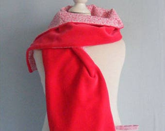 Scarf and flowered cotton Velvet